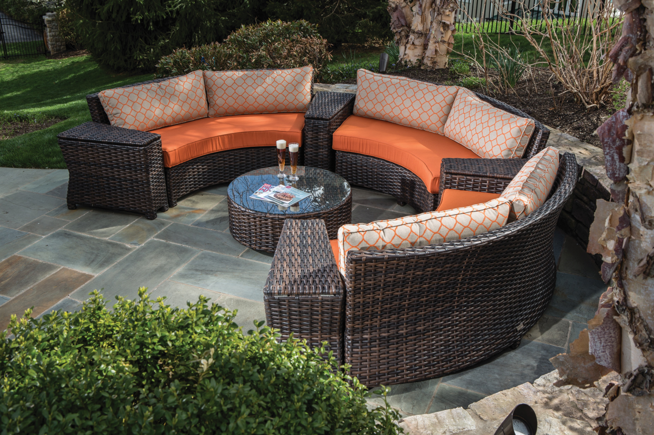 Creative Homescapes Amalfi Collection Wicker Set