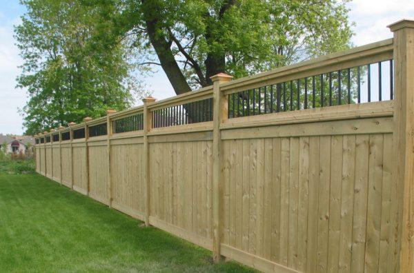 Pressure-treated Fence